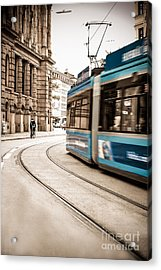Munich City Traffic Acrylic Print by Hannes Cmarits