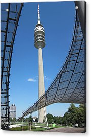 Acrylic Print featuring the photograph Munich Olympic Tower by Pema Hou