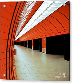 Munich Subway I Acrylic Print by Hannes Cmarits