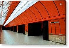 Munich Subway IIi Acrylic Print by Hannes Cmarits