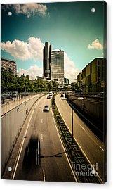 Munich Traffic Acrylic Print by Hannes Cmarits