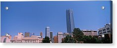 Municipal Building With Devon Tower Acrylic Print by Panoramic Images
