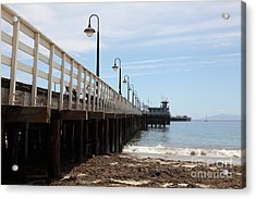 Municipal Wharf At The Santa Cruz Beach Boardwalk California 5d23768 Acrylic Print by Wingsdomain Art and Photography