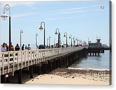 Municipal Wharf At The Santa Cruz Beach Boardwalk California 5d23773 Acrylic Print by Wingsdomain Art and Photography