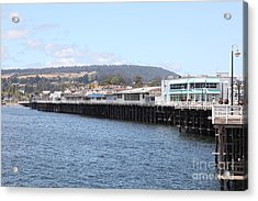 Municipal Wharf At The Santa Cruz Beach Boardwalk California 5d23813 Acrylic Print by Wingsdomain Art and Photography