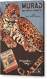 Murad 1910s Usa Cigarettes Smoking Acrylic Print by The Advertising Archives