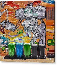 Mural And Bins Acrylic Print