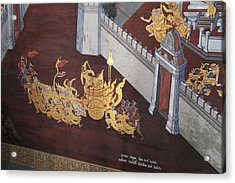 Mural - Grand Palace In Bangkok Thailand - 011310 Acrylic Print by DC Photographer