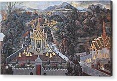 Mural - Grand Palace In Bangkok Thailand - 01132 Acrylic Print