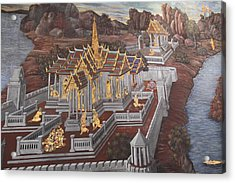Mural - Grand Palace In Bangkok Thailand - 01135 Acrylic Print by DC Photographer