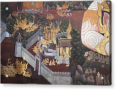 Mural - Grand Palace In Bangkok Thailand - 01139 Acrylic Print by DC Photographer