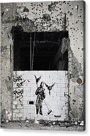Mural In Beirut  Acrylic Print