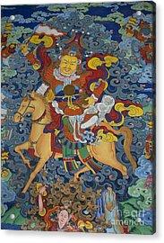 Mural Of Ling Kesar - Litang Chode Monastery Acrylic Print