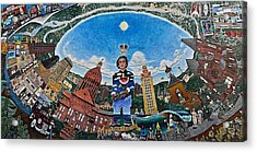 Mural Of Stephen F Austin Off Guadalupe Acrylic Print