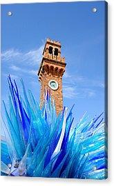 Murano Clock Tower Acrylic Print by Valentino Visentini
