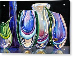 Acrylic Print featuring the painting Murano Crystal by Roger Rockefeller