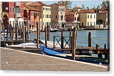Acrylic Print featuring the photograph Murano Dock by Walter Fahmy