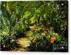 Muratie Gardens Acrylic Print by Rick Bragan