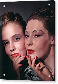 Muriel Maxwell And Ruth Knox Elden Acrylic Print by Horst P. Horst
