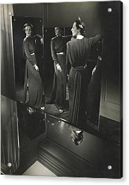 Muriel Maxwell In A Dress By Rose Amado Acrylic Print