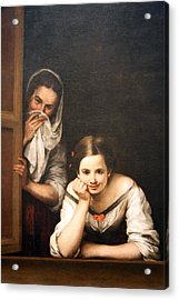 Murillo's Two Women At A Window Acrylic Print