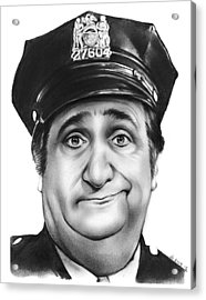 Murray The Cop Acrylic Print by Greg Joens