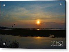 Murrells Inlet Sunrise Acrylic Print by Kathy Baccari