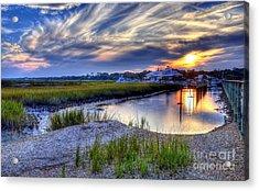Murrells Inlet Sunset 4 Acrylic Print by Mel Steinhauer