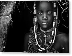 Mursi Girl Acrylic Print