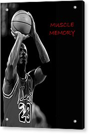 Acrylic Print featuring the painting Muscle Memory by Brian Reaves