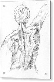 Muscular Back Acrylic Print
