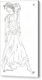Terpsichore Muse Of Dance Acrylic Print by Maria Hunt