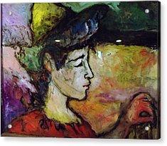 Muse Struck Acrylic Print by Mykul Anjelo