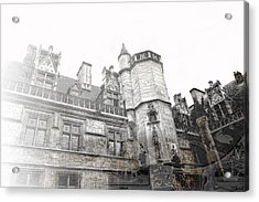 Musee De Cluny When The World Was Flat Acrylic Print by Evie Carrier