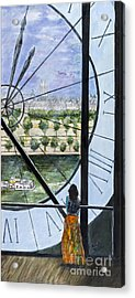 Musee D'orsay In Paris By Sandy Taffin Acrylic Print by Sheldon Kralstein