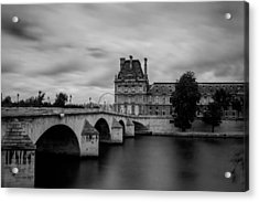 Musee Du Louvre And Pont Royal Acrylic Print
