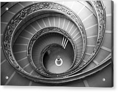 Acrylic Print featuring the photograph Musei Vaticani Stairs by Nathan Rupert