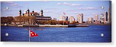 Museum And Skyscrapers Viewed Acrylic Print