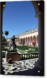 Museums Garden View  Acrylic Print by Christiane Schulze Art And Photography