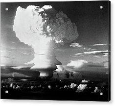 Mushroom Cloud From Atomic Bomb Set Acrylic Print
