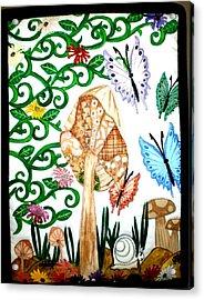 Mushroom Hunt Acrylic Print by Linda Egland