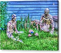 Mushroom Hunters Acrylic Print by MJ Olsen