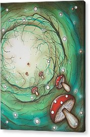 Mushroom Time Tunel Acrylic Print