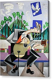 Music A Gift From The Holy Spirit Acrylic Print by Anthony Falbo