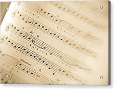 Music Acrylic Print by Alexey Stiop