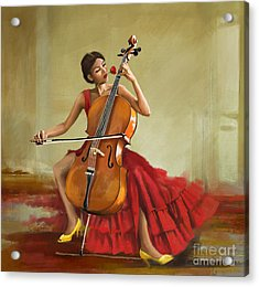 Music And Beauty Acrylic Print by Corporate Art Task Force