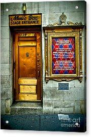 Music Box Stage Entrance Acrylic Print