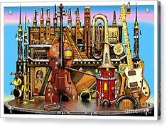 Music Castle Acrylic Print by Colin Thompson