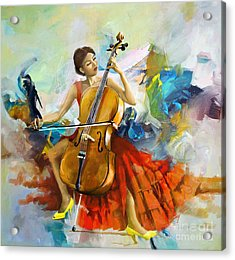 Music Colors And Beauty Acrylic Print