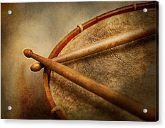 Music - Drum - Cadence  Acrylic Print by Mike Savad